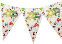 Planet Jashn Planet Jashn Happy Birthday Kids With Balloon Buntings Pennant Flag (8 Ft, Pack Of 1)