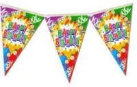 Planet Jashn Planet Jashn Happy Birthday Swirls & Candles Buntings Pennant Flag (8 Ft, Pack Of 1)