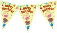 Planet Jashn Planet Jashn Happy Birthday Cupcake With Balloons Buntings Pennant Flag (8 Ft, Pack Of 1)