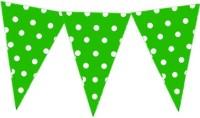 Planet Jashn Planet Jashn Green Polka Dots Bunting Pennant Flag (8 Ft, Pack Of 1)