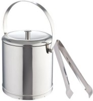 THW Classic Double Wall Ice Bucket With Tong 2 - Piece Bar Set (Stainless Steel)
