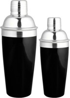 King- International Cocktail Shaker Black Pair 750 Ml & 500 Ml 2 - Piece Bar Set (Stainless Steel)