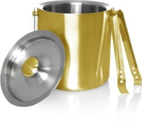 King Traders Insulated/Double Walled Stainless Steel Ice Bucket (Gold 1.75 L)