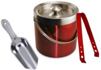 King International Red Coloured Bar Set Of 3 Pcs 3 - Piece Bar Set (Stainless Steel)