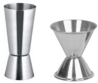 Dynamic Store Double Sided Peg Measures 30&60, 20&40 Ml Each 2 - Piece Bar Set (Stainless Steel)