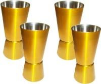 King International Golden Coloured Jigger Set 4 - Piece Bar Set (Stainless Steel)