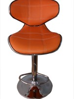 Furniture First Dradbury Half-leather Bar Chair (Finish Color - Orange)