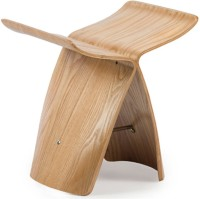 HomeHQ The Butterfly Solid Wood Bar Stool (Finish Color - Natural Finish)