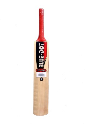 Blue Dot Leather No.2 K.W. Kashmir Willow Cricket  Bat (2, 990 g)