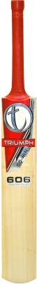 Triumph 606 English Willow Cricket  Bat (Short Handle, 1100-1280 g)
