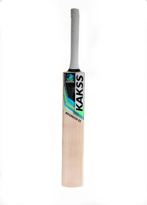 Kakss Bronco II English Willow Cricket  Bat (Long Handle, 1100-1250 g)