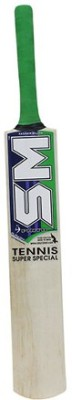 SM Tennis Super Special Kashmir Willow Cricket  Bat (Long Handle, 900 - 2000 g)