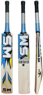 SM Pintu Club Fighter English Willow Cricket  Bat (Long Handle, 900 - 2000 g)
