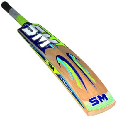 SM Striker Plus Kashmir Willow Cricket  Bat (Long Handle, 900 - 2000 g)