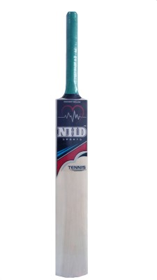 NHD TENNIS Kashmir Willow Cricket  Bat (Short Handle, 950-1200 g)