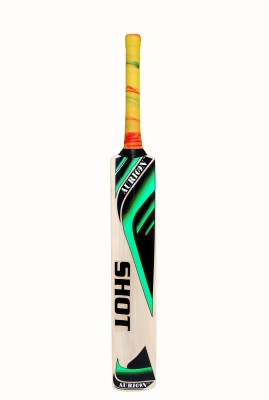 aurion SHOT555 Kashmir Willow Cricket  Bat (Short Handle, 900 g)