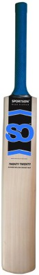 Sportson Twenty Twenty Tennis Kashmir Willow Cricket  Bat (Short Handle, 1000 g)