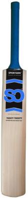 Sportson Twenty Twenty Tennis Kashmir Willow Cricket  Bat (Short Handle, 1000 g)