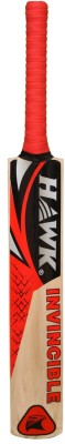 Hawk Invincible Kashmir Willow Cricket  Bat (Harrow, 1100-1205 g)
