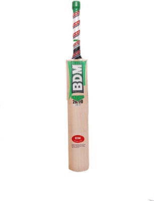BDM Smasher 20-20 English Willow Cricket  Bat (Short Handle, 1300-1390 g)