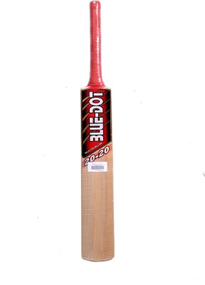 Blue Dot Leather T-20 K.W. Kashmir Willow Cricket  Bat (Short Handle, 1290 g)