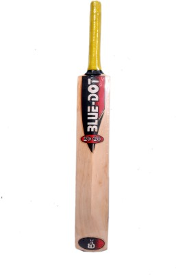 Blue Dot Leather No.3 K.W. Kashmir Willow Cricket  Bat (3, 990 g)