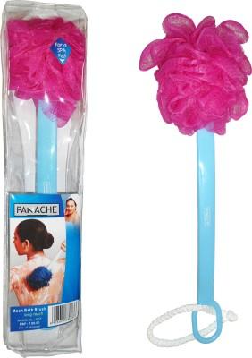 Panache Mesh Bath Brush Long Reach Pink