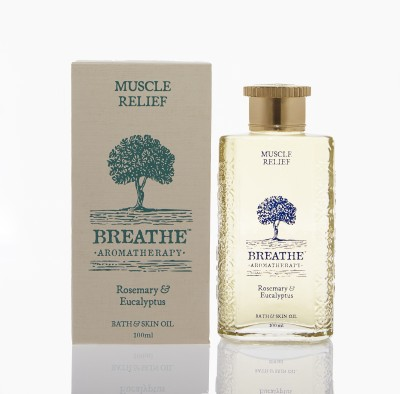Breathe Aromatherapy Muscle Relief Bath and Skin Oil