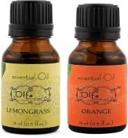 Olfa Lemongrass Essential Oil & Orange Essential Oil Combo(Pack Of 2) 15ml+15ml (30 Ml)