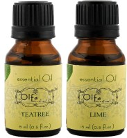 Olfa Tea Tree Essential Oil & Lime Essential Oil Combo (Pack Of 2) 15ml+15ml (30 Ml)