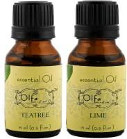 Olfa Tea Tree Essential Oil & Lime Essential Oil Combo (Pack Of 2) 15ml+15ml (30 Ml)