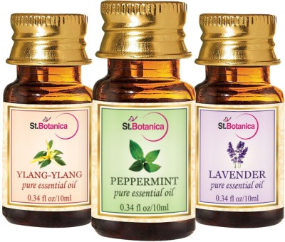 StBotanica Lavender + Peppermint + Ylang Ylang Pure Essential Oil