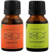 Olfa Orange Essential Oil & Peppermint Essential Oil Combo (Pack Of 2) 15ml+15ml (30 Ml)