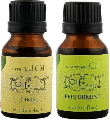 Olfa Lime Essential Oil & Peppermint Essential Oil Combo 15ml+15ml