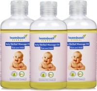 Healthbuddy Baby Herbal Massage Oil Pure & Mild, 3 Bottles (600 Ml)