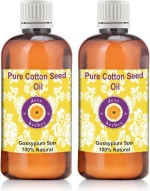 DèVe Herbes Pure Cotton Seed Oil Pack Of Two Gossypium Spp 100% Natural Cold Pressed