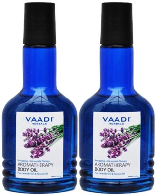 Vaadi Herbals Aromatherapy Body Oil with Lavender & Almond Oil Pack of 2