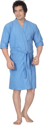 Sand Dune Gents Bathrobe Bath Robe Blue