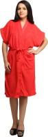 Celebrity Red Free Size Bath Robe 1 Bath Robe, 1 Bath Robe Belt, For: Women, Men, Red