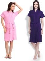Simsimnx Pink, Purple Free Size Bath Robe 2 Bathrobe, For: Women, Pink, Purple