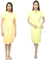 VeenaDdesigner Yellow, Yellow Free Size Bath Robe 2 Bath Robe, For: Women, Yellow, Yellow