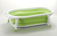 Baby Bucket Folding Baby Bath Tub For Infant Bathing Baby Bath Seat (Green)