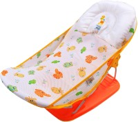 Ole Baby Animal Face Seater Print Soft Fabric Cradle Baby Bather 0 To 6 Months Baby Bath Seat (Orange)