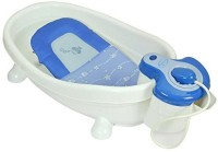 Baby Bucket Bath Center Shower Baby Bath Seat (White, Blue)
