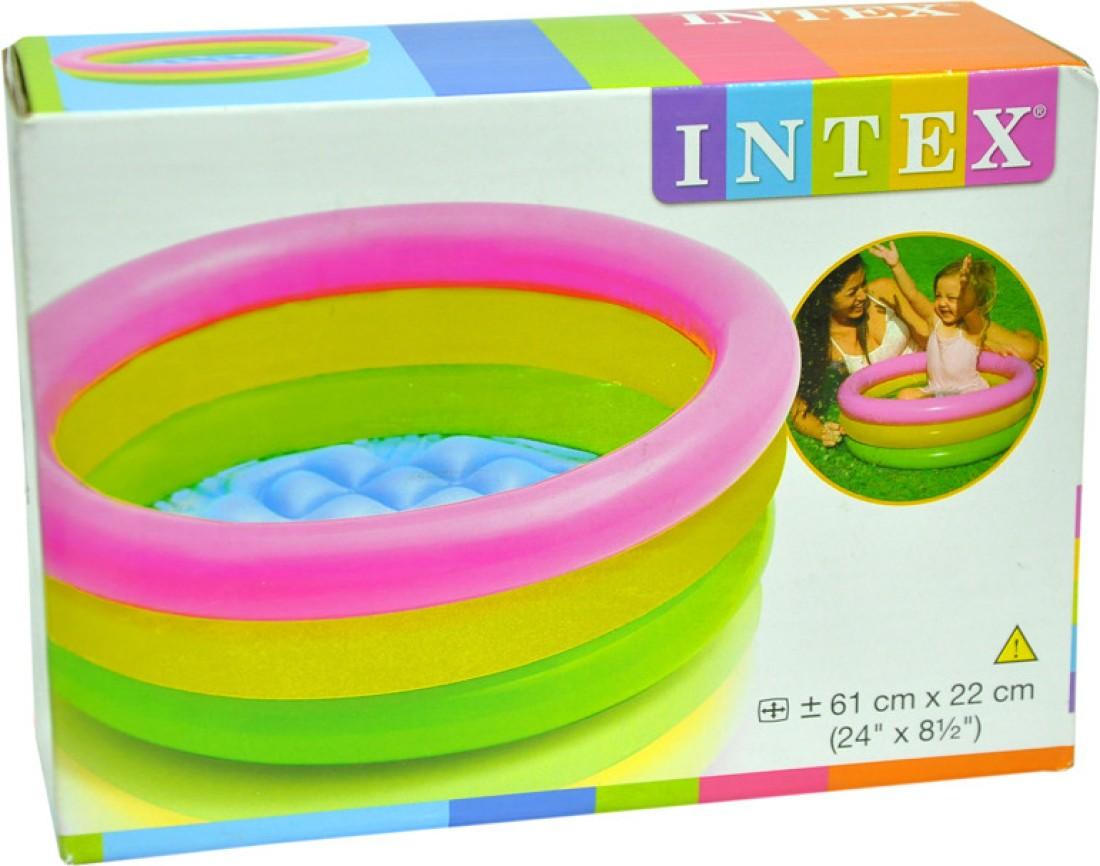 intex water tub inflatable pool 4ft diameter baby bath seat price in india buy intex water tub. Black Bedroom Furniture Sets. Home Design Ideas