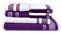 Vintana Cotton Bath Towel Set 1 Bath Towel, 1 Ladies Towel,2 Hand Towels,4 Face Towels., Multicolor
