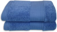 Divine Overseas Cotton Hand Towel Set 2 Piece Premium Hand Towel Set, Royal Blue