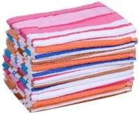 ShopSince Cotton Hand Towel Stripes Cotton Hand Towel - Pack Of 12, Multicolor