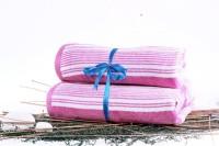 Shoppingtara Soft Cotton Bath Towel Set (Bath Towel, Purple)