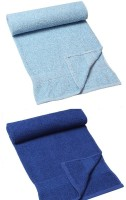 HomeTex Cotton Bath Towel, Set Of Towels, Bath Towel Set, Multi-purpose Towel (2 Bath Towel, Sky Blue, Royal Blue)